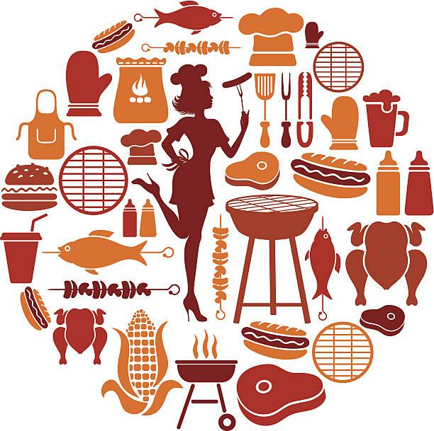 Collage di barbecue - illustrazione arte vettoriale