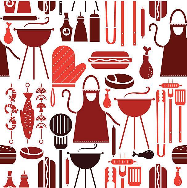 Barbecue Ripeti modello - illustrazione arte vettoriale