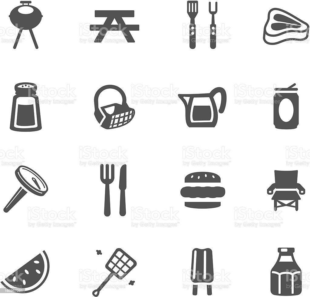 Barbeque Symbols royalty-free stock vector art