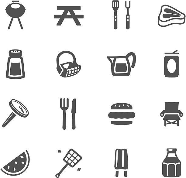 Barbeque Symbols http://www.cumulocreative.com/istock/File Types.jpg picnic stock illustrations