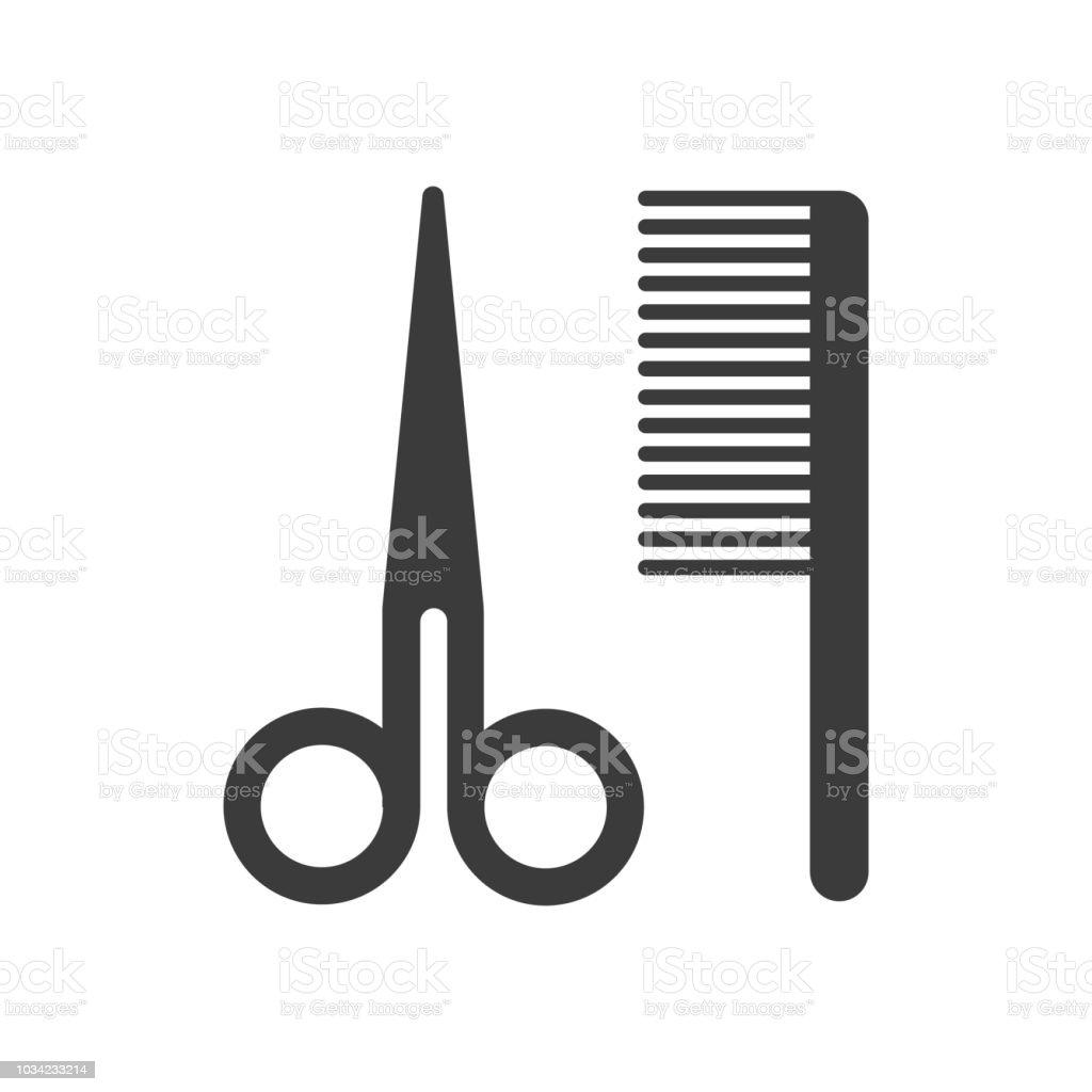 Ícones de acessórios do barbeiro. - ilustração de arte em vetor
