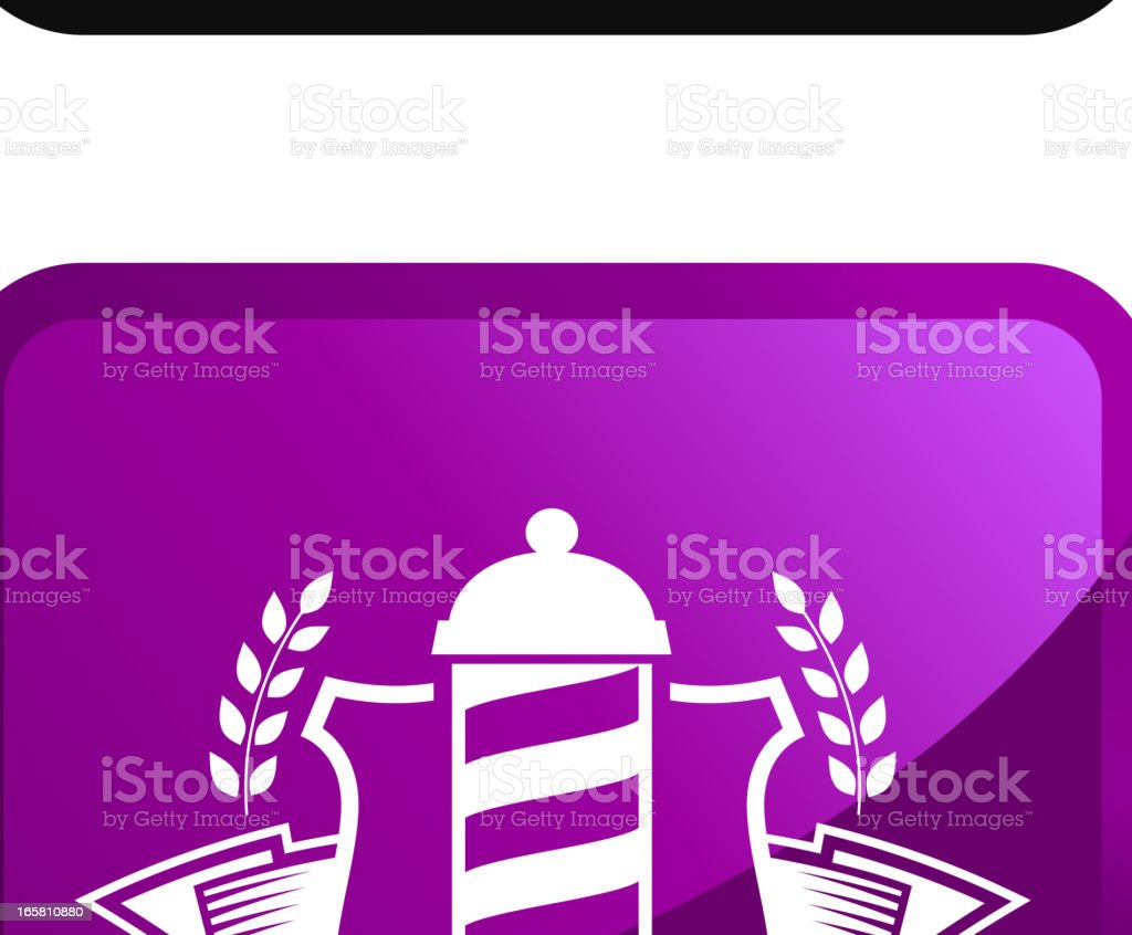Barber medalhas royalty free ícone conjunto de adesivos vetor - ilustração de arte em vetor