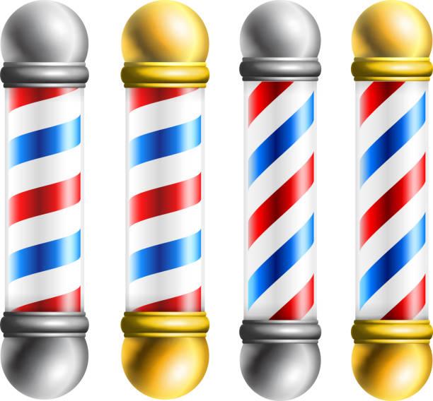 Barber barbershop pole vektör sanat illüstrasyonu