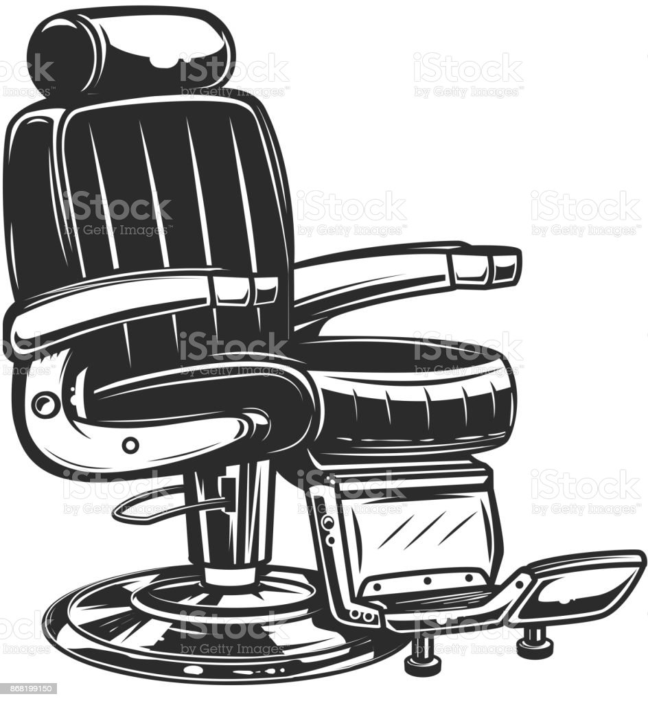 Barber Chair Illustration On White Background Royalty Free