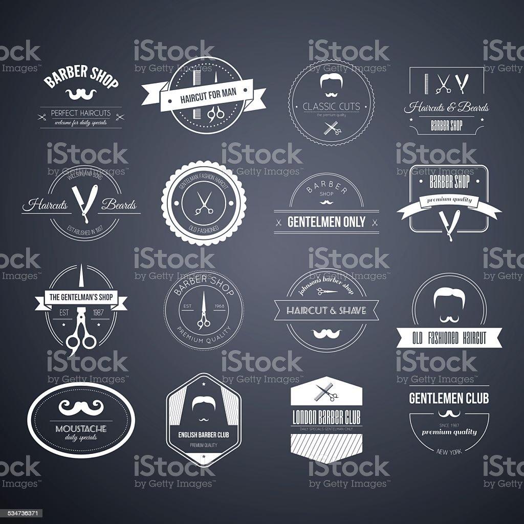Barber Logos vector art illustration