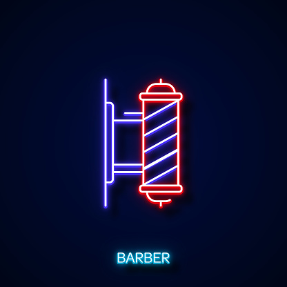 Barber Neon Style, Design Elements