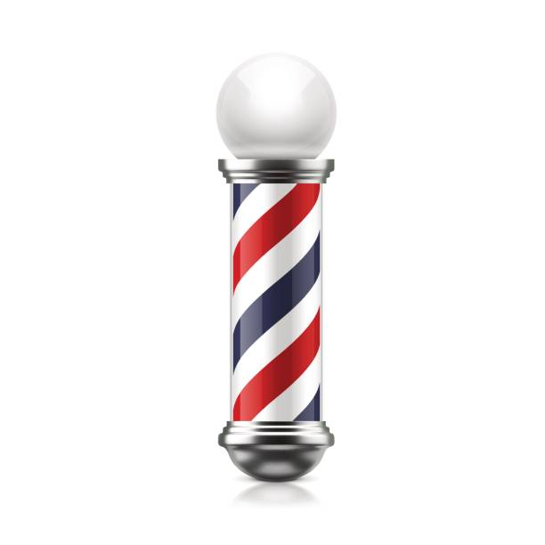 Barber pole vector art illustration