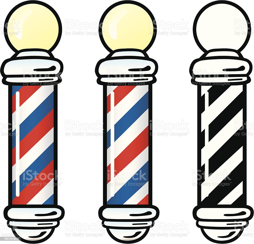 Barber Clipart Barber Poles Stock Vec...