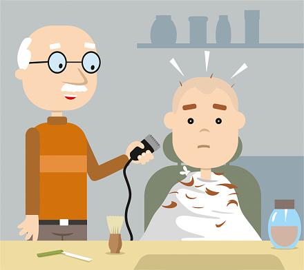 Barber shop cartoon style