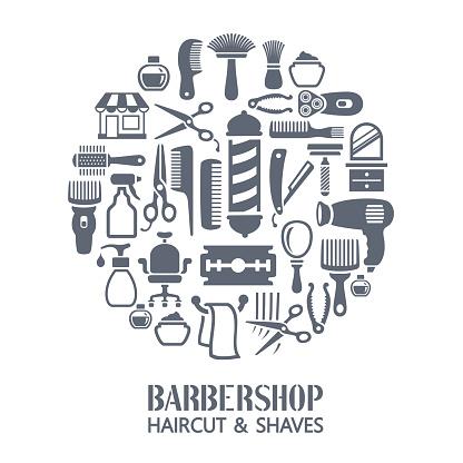 Barber shop collage