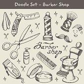 barber shop doodles