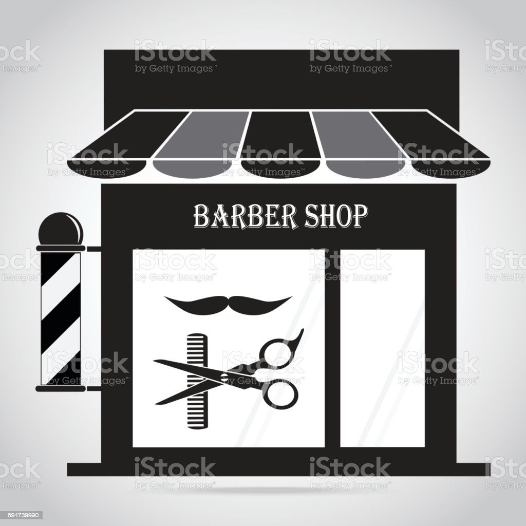 barber shop pole logo vector