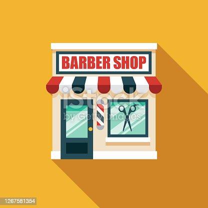 istock Barber Shop Icon 1267581354