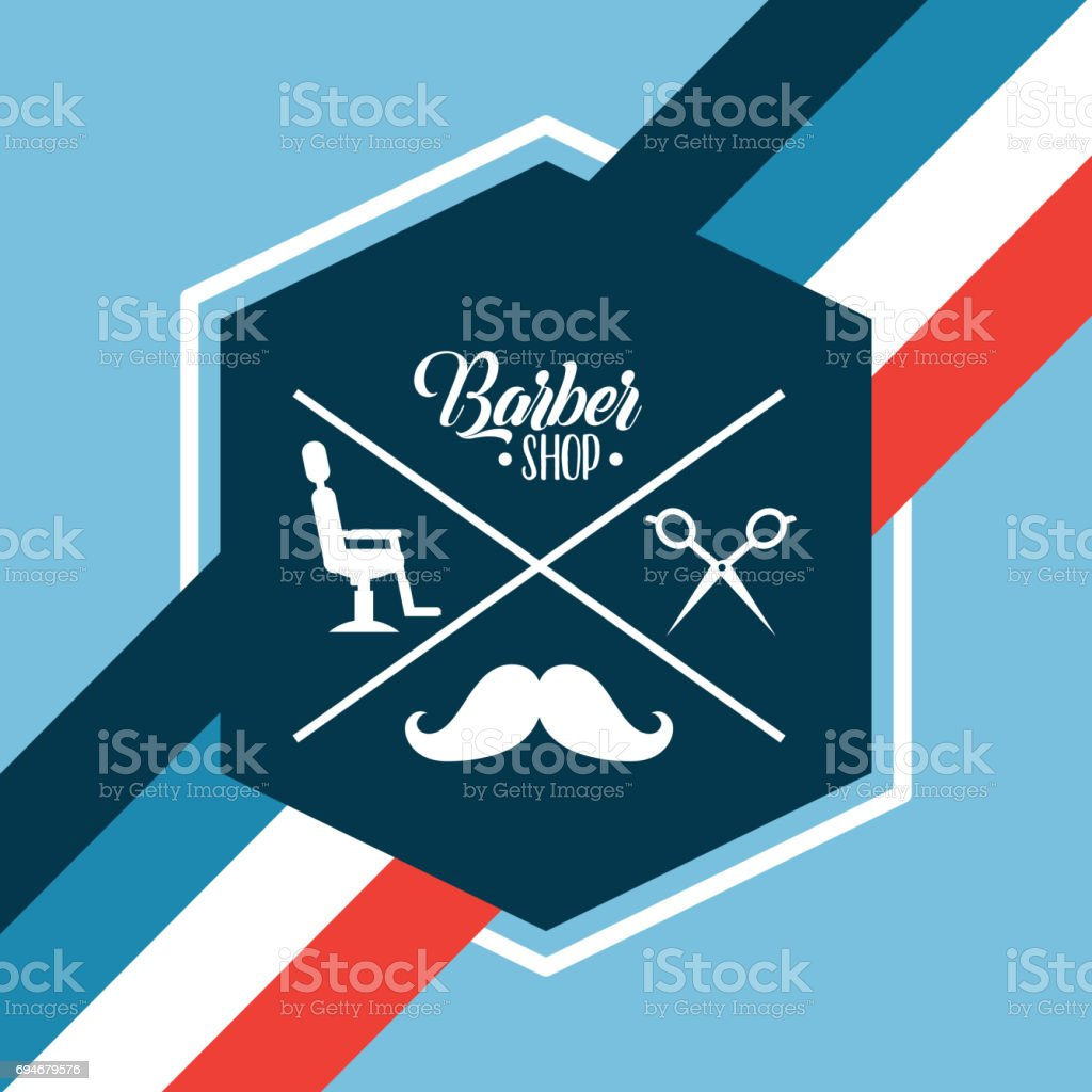 barber shop illustration vector art illustration