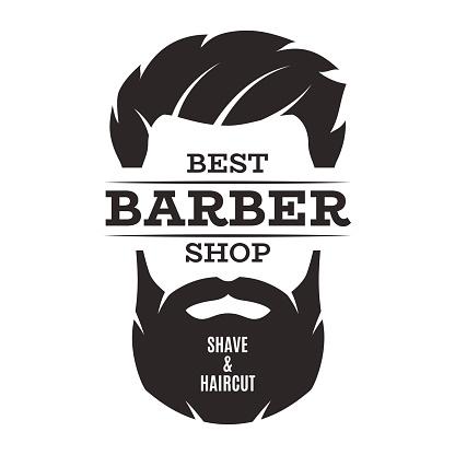 Barber shop isolated vintage label badge emblem.