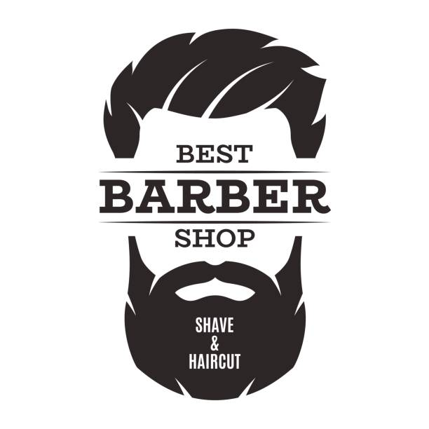 Barber shop isolated vintage label badge emblem. vector art illustration