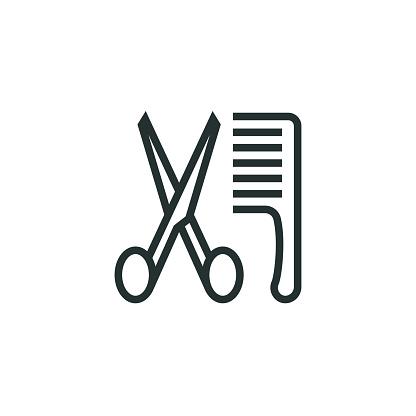 Barber Shop Line Icon