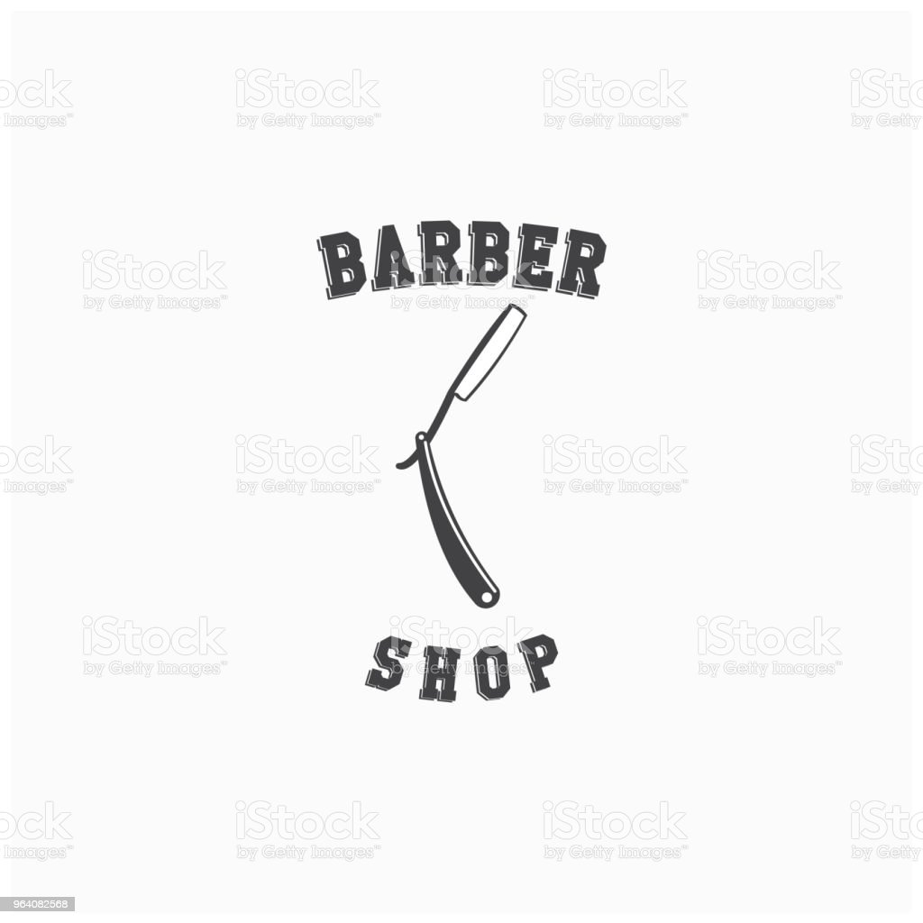 Barber Shop Logo Vector Template Design - Royalty-free Arts Culture and Entertainment stock vector
