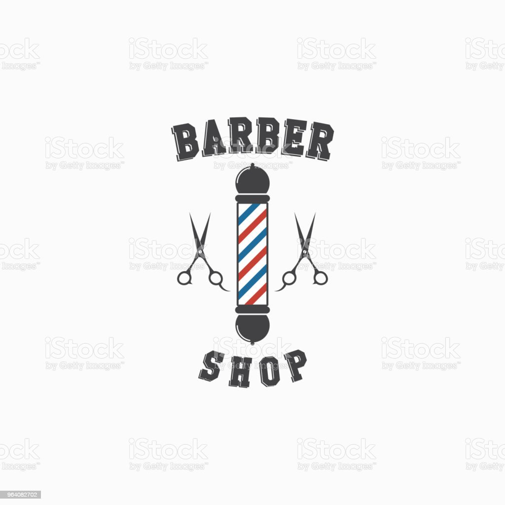 Barber Shop Logo Vector Template Design - Royalty-free Arts Culture and Entertainment stock vector