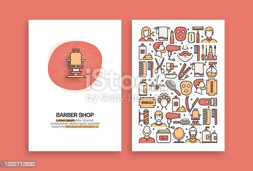 Barber Shop Related Design. Modern Vector Templates for Brochure, Cover, Flyer and Annual Report.