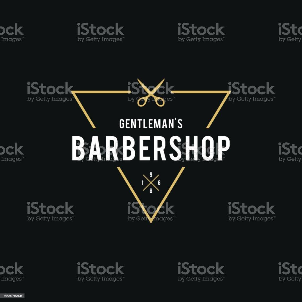 Barber Shop Retro estilo de ilustración - ilustración de arte vectorial