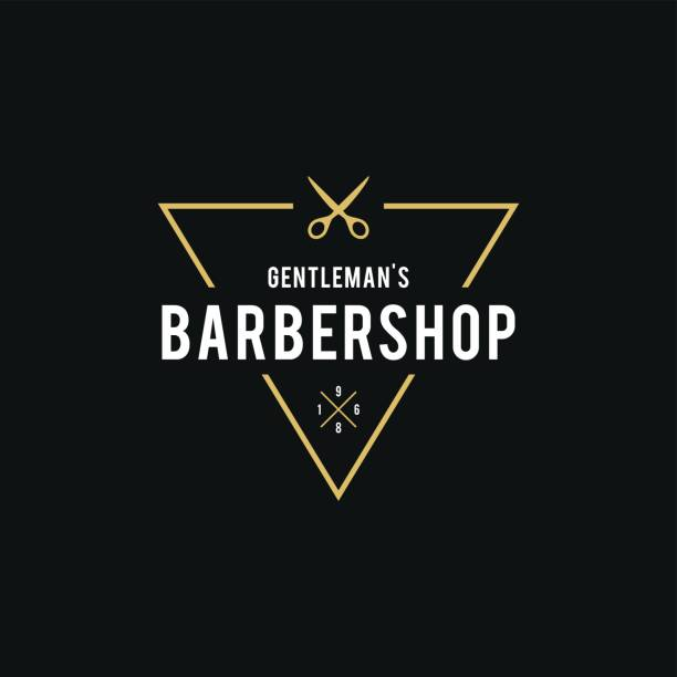 Barber Shop Retro Styled illustration vector art illustration