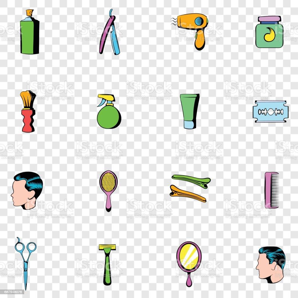 Barber shop set icons royalty-free barber shop set icons stock vector art & more images of barber