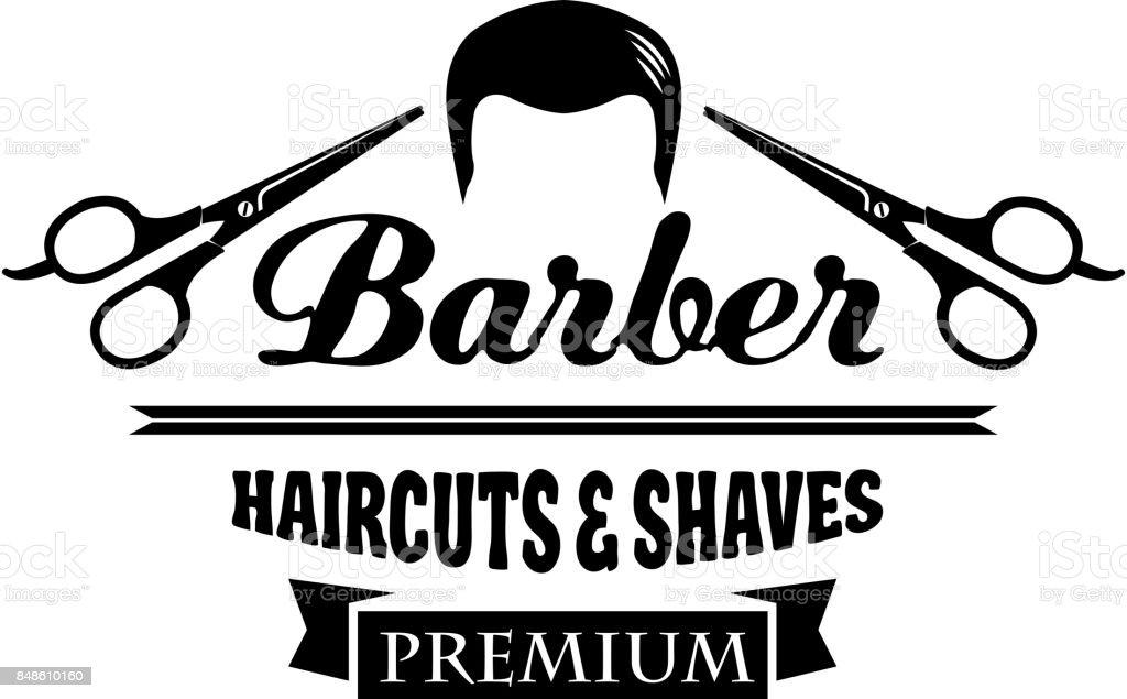 Barber Shop Symbol Or Hair Salon Emblem Design Stock Illustration Download Image Now Istock