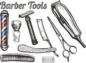 Barber tools set