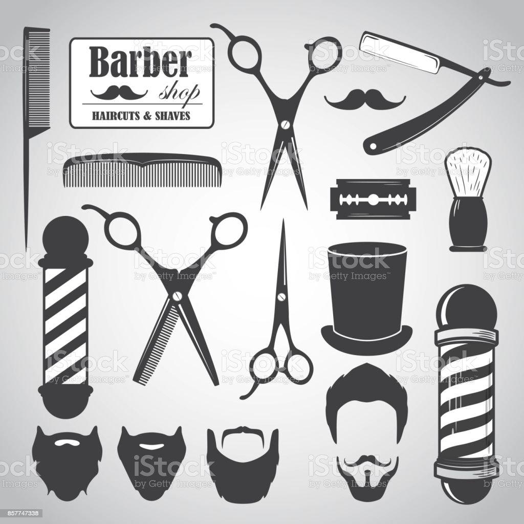 Barber1 vector art illustration