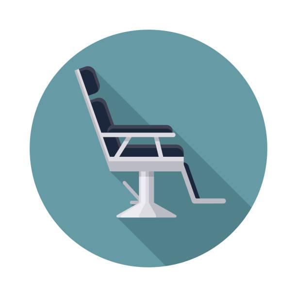床屋チェア美容アイコン - 美容室点のイラスト素材/クリップアート素材/マンガ素材/アイコン素材
