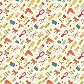 Barber's shop seamless pattern.