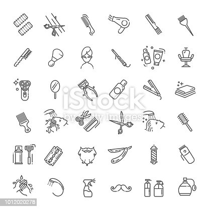 Hair Salon and beauty salon vector icons