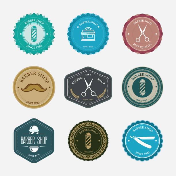 Badges Barbershop - Illustration vectorielle