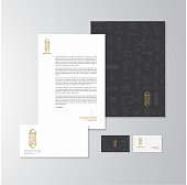 Logo, letterhead and businesscard set for a barbershop