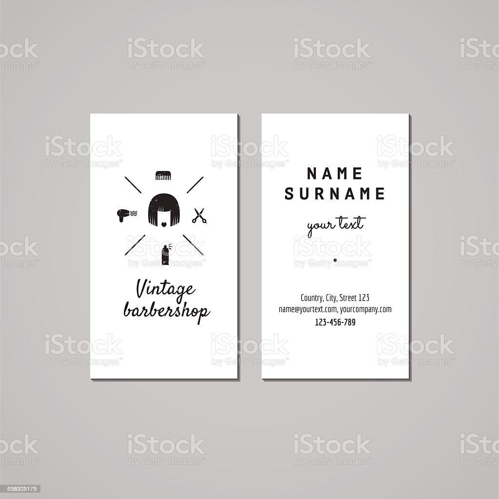 Concept De Design Carte Visite Salon Coiffure Pour Hommes Logo