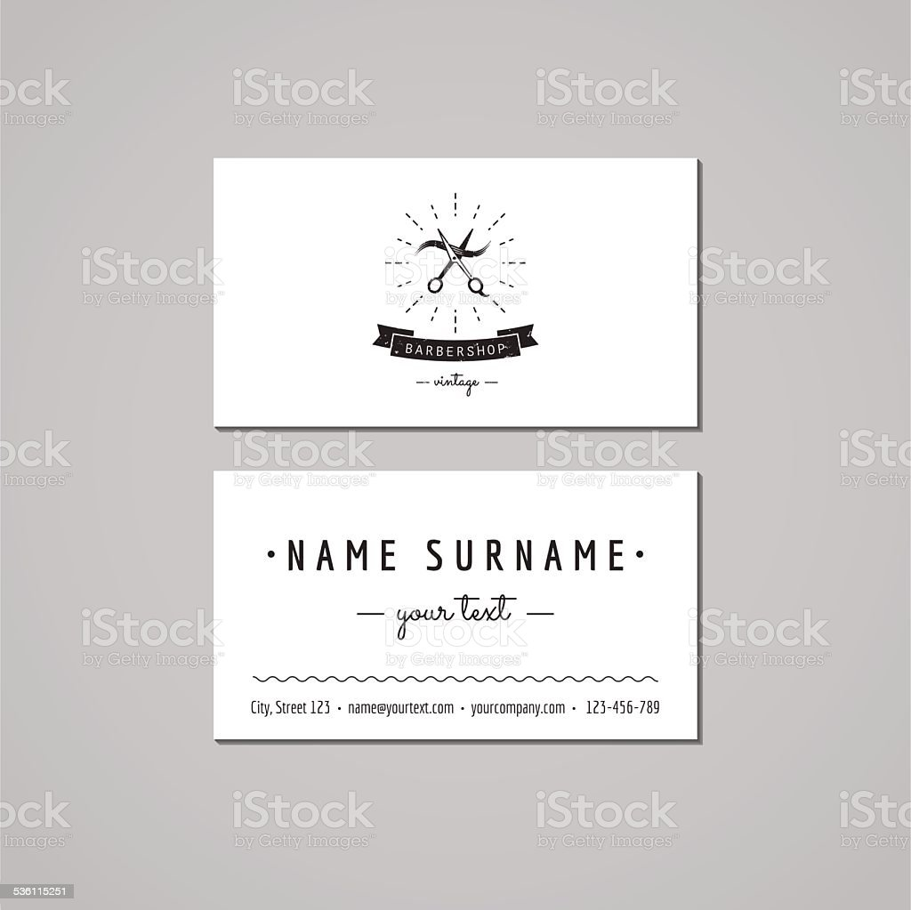 Barbershop business card design concept with scissors stock vector barbershop business card design concept with scissors royalty free barbershop business card design concept with colourmoves