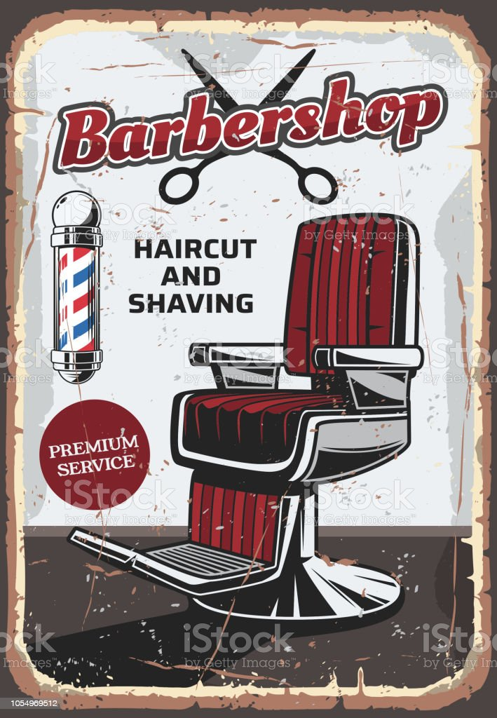 [Image: barbershop-chair-and-scissors-retro-vect...1054969512]