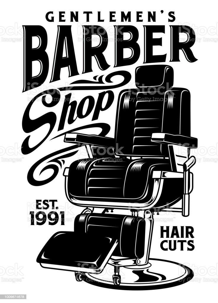Barbershop Chair Vector Illustration vector art illustration