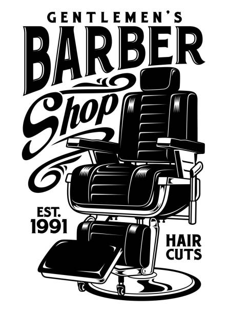 Barbershop Chair Vector Illustration vector art illustration