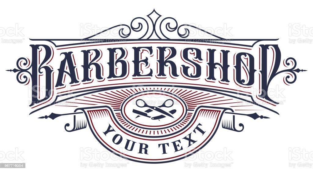 Barbershop icon design on the white background vector art illustration