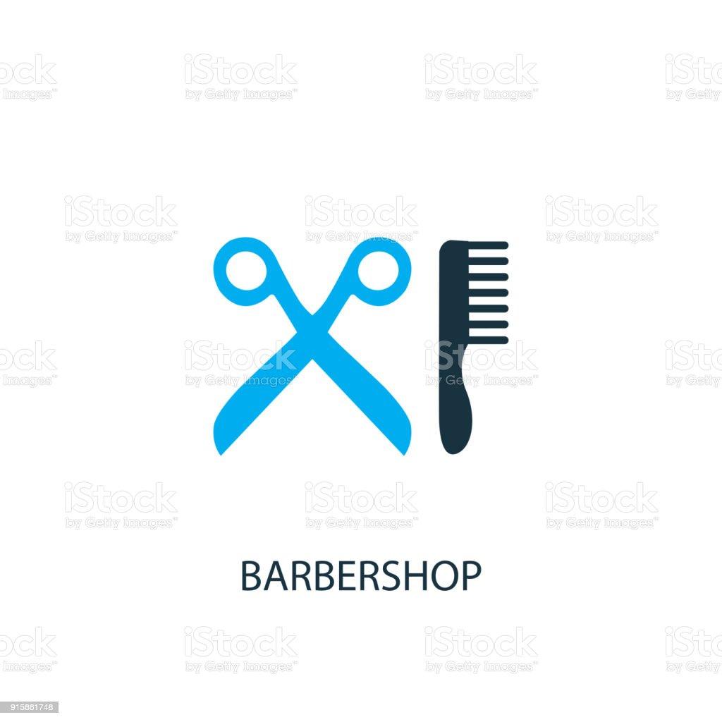 Ícone de barbearia. Ilustração de elemento de logotipo - ilustração de arte em vetor