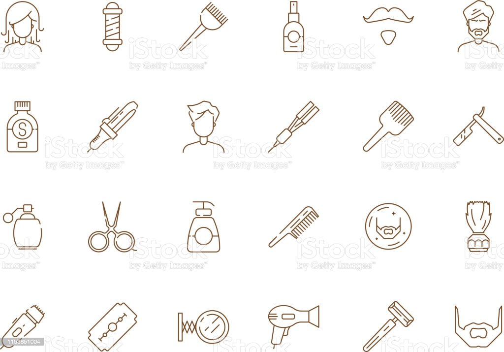 Hair Cutting Tools Drawing 94