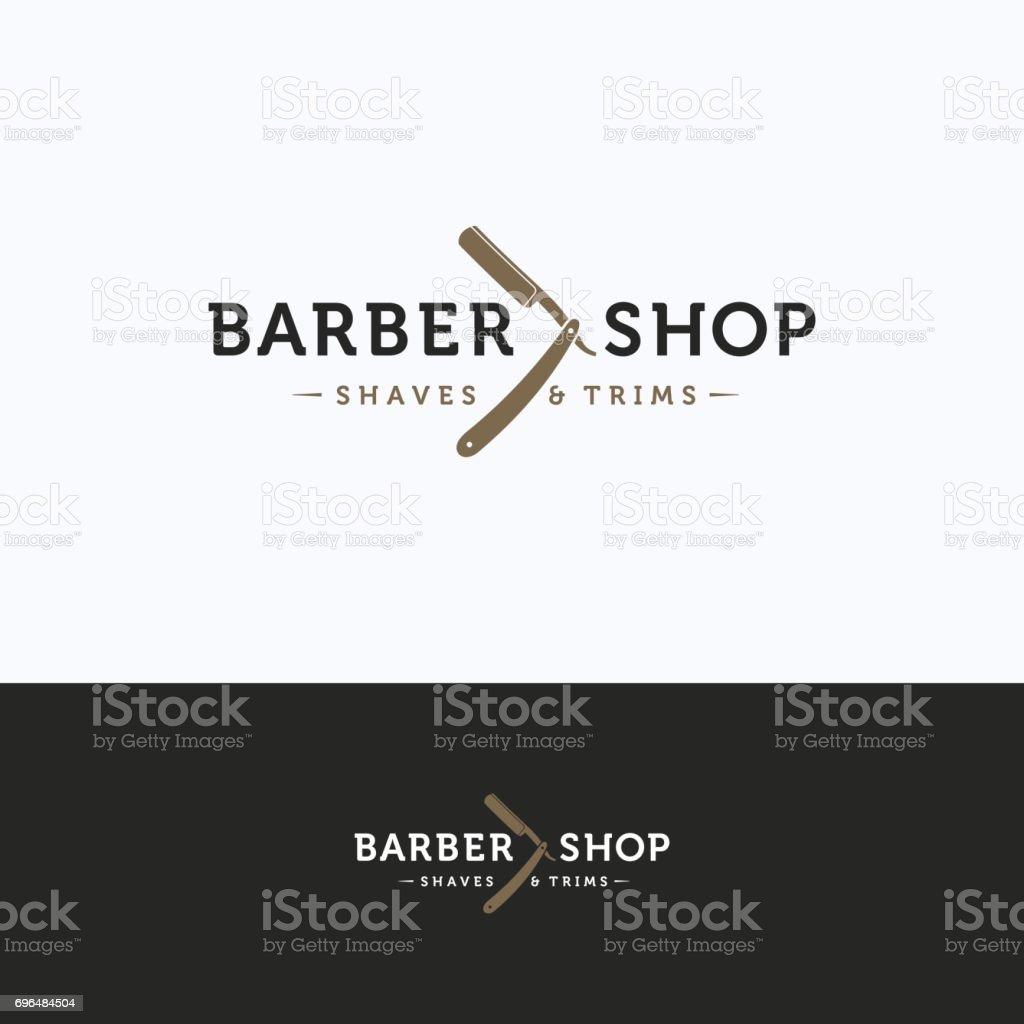 Icono de barbería - ilustración de arte vectorial