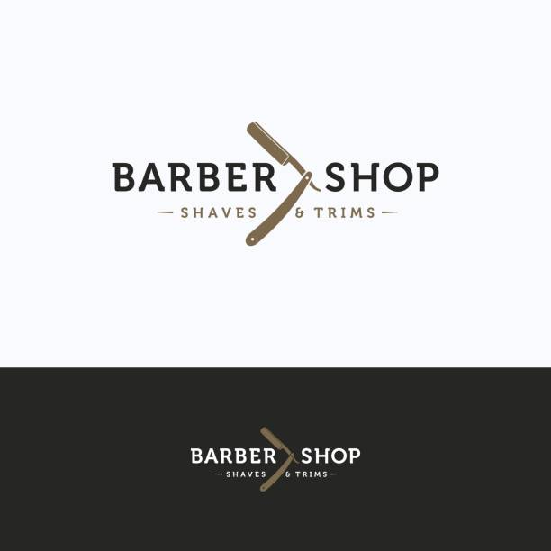 Barbershop icon vector art illustration