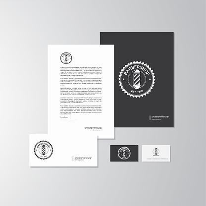 Barbershop logo and branding
