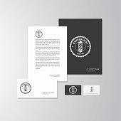 Barbershop theme logo and branding vector illustration