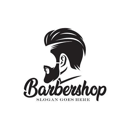 Barbershop logo design vector illustration