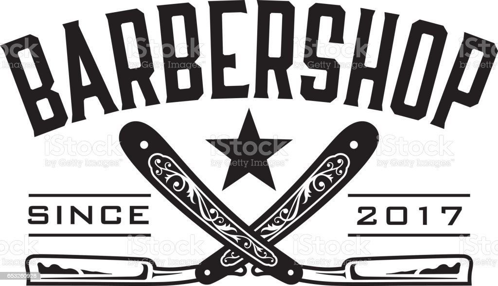 Barbershop Logo vector art illustration