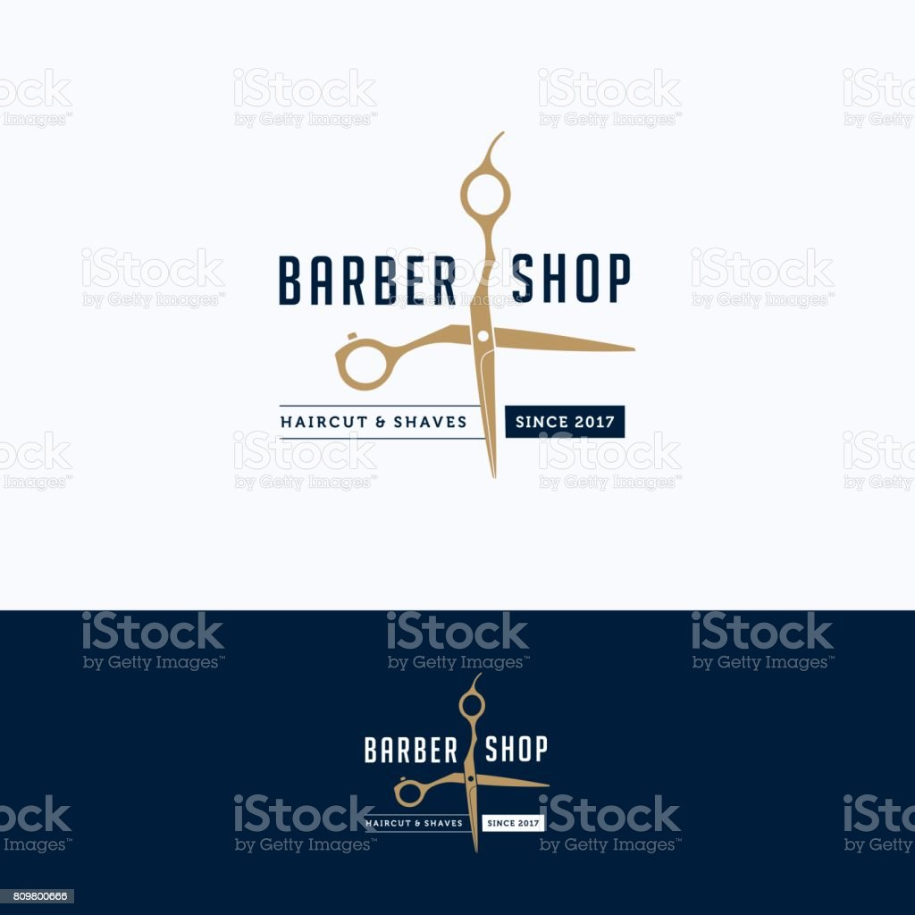 Barbershop logo vector art illustration